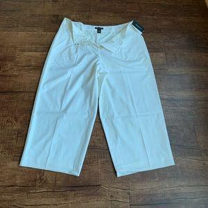 Lafayette single pleat wool capris trouser size 16